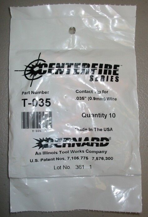 Bernard Genuine Centerfire Series T-035 Contact Tips .035 - Qty 10