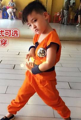 Anime Dragon Ball Z GOKU Costume Cosplay For Child Children 4 size +Free TRACK - Goku Costume Kids