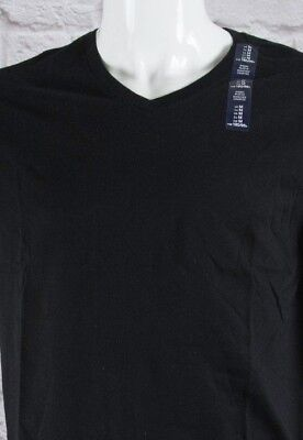 NWT Mens GAP V-Neck Short Sleeve Everyday T-Shirt True Black 100% Cotton-801971@