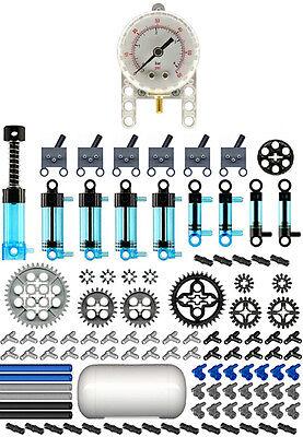 Lego Pneumatic MASTER Blue Kit   (technic,air,tank,cylinder,mini,pump,manometer)