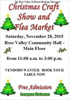 Vendors Wanted - Rose Valley Museum Christmas Craft Show