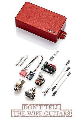 EMG 57 RED STANDARD SPACED ACTIVE HUMBUCKER GUITAR PICKUP /& WIRING FENDER 18FT