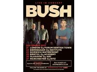 4 Tickets to BUSH at O₂ Forum Kentish Town || Thursday 21Sep2017