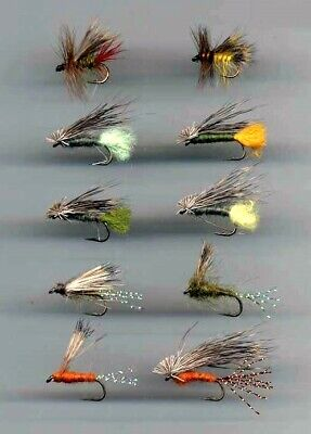 code 532 Peeping Caddis Weighted x 10 Size 10 hooks Trout Flies