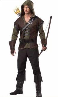 Adult Robin Hood Medieval Archer Hunter Warrior Pan Costume Cosplay