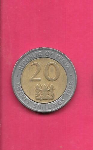 KENYA KM32 2005 VF-VERY FINE-NICE  CIRCULATED USED LARGE 20 SHILLINGS COIN