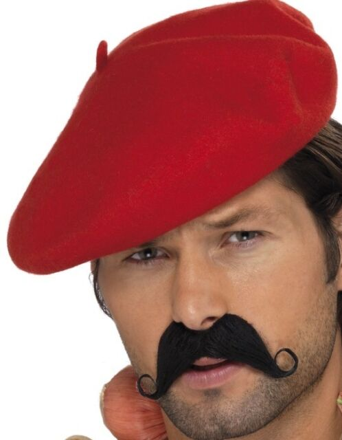 Mens Frenchman French Man Fancy Dress Beret Red New by Smiffys