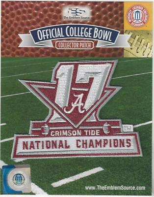 2017 Alabama Ncaa Football National Champions Patch Official   Packaged