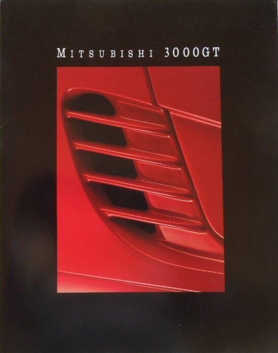 1992 Mitsubishi 3000GT VR-4 3000GT SL 3000GT Deluxe Sales Brochure