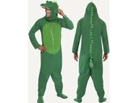 CROCODILE FANCY DRESS OUTFIT SIZE M GREAT FOR PARTY OR STAG DO