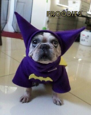 French Bulldog Boston Terrier Pug Dog Froodies Hoodies Costume Batgirl Batman