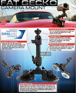 Delkin-DDMOUNT-SUCTION-Fat-Gecko-Double-Knuckle-Dual-Suction-Cup-Camera-Mount