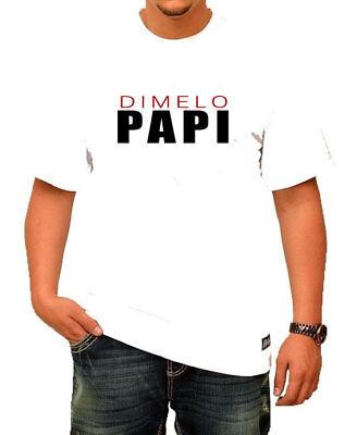 Dimelo Papi Nicky Jam Puerto Rican Reggaeton Mens White T Shirt