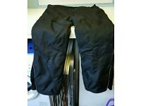 CRANE BLACK MOTORCYCLE TROUSERS