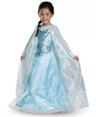 Frozen Elsa Girl's Deluxe Costume Dress Up Size 7-8...NEW
