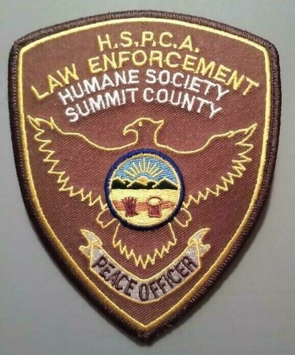 VINTAGE HSPCA HUMANE SOCIETY PATCH LAW ENFORCEMENT OFFICER - SUMMIT COUNTY OHIO