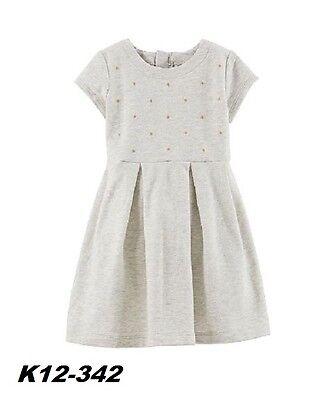 Carter's New With Tags Toddler Girls Color Gray Dress Size 4T