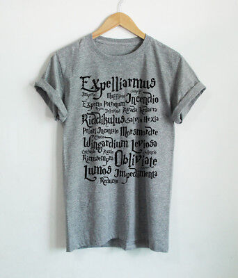 Harry Potter Shirt All Magic Spells T-shirts Unisex Top Women Clothing Movie Tee](Top Womens Movies)
