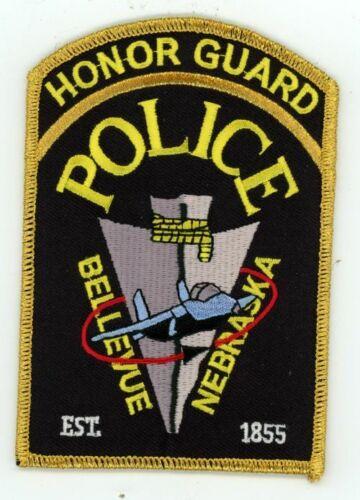 BELLEVUE POLICE NEBRASKA NE HONOR GUARD NICE COLORFUL PATCH SHERIFF