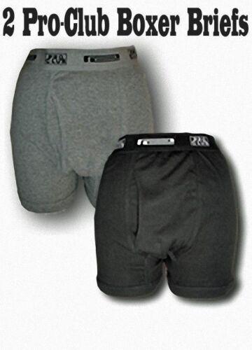 2 Pack PRO CLUB Boxer Briefs Cotton Proclub Men's Underwear