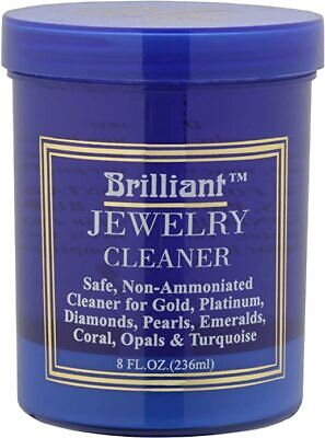 Brilliant 8oz Safe Jewelry Cleaner w/ Cleaning Basket & Brus