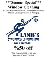 Window Cleaning August Sale!