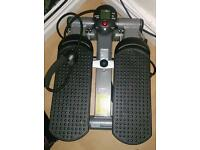Pro fitness mini stepper lateral thigh trainer with arm resistance straps