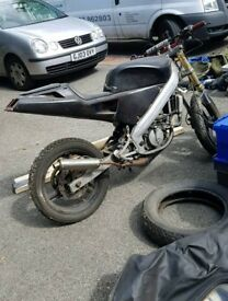 50/70cc project track streetfighter trick bike