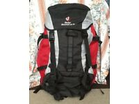 Red Deuter Air-contact 50+10 Back Pack