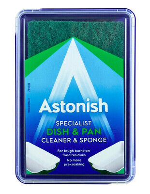 Astonish Dish & Pan Cleaner With Scourer Sponge 250g Specialist Dishes & Pots Dish-pan