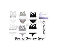 Calvin Klein Women Sets Sports Bralette & Thong Or Brief 2peice set Box & Tags Wholesale