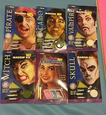 Lot Of 6 Halloween Makeup Kits By Techni faces Paper Magic Lot 1 (Halloween Makeup Kits)