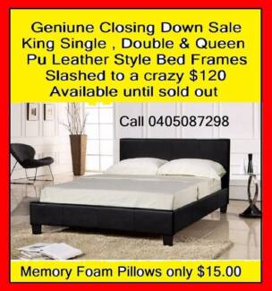 New Double/Queen Pu Leather Style Bed Frame Price slashed to $125