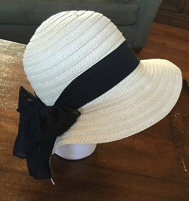 Floppy Hat By MADD Hatter 100% Paper One Size New With Tag Black Ribbon