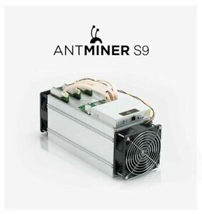 Antminer S9 14 et 13.5 th/s + PSU + ethernet et electric cable