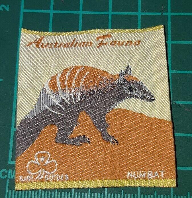 Australian Fauna Girl Guide Badge. - Numbat