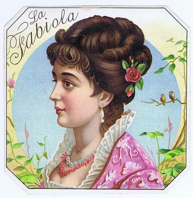 La Fabiola original outer cigar box label