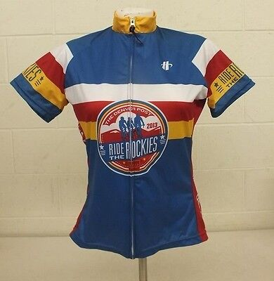 Hincapie Denver Post Ride The Rockies Full Zip CO Flag Cycling Jersey  Women s S f76518f85