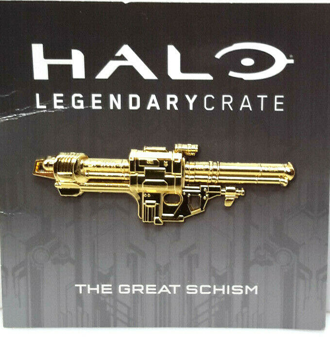 2018 Halo Year 1 Special Bonus Loot Crate Great Schism Exclusive Lapel Pin-Card