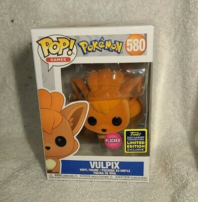 Vulpix #580 (Pokemon): Funko Pop Games *SDCC Shared* w/Protector *Flocked*