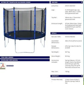 Action 10ft Trampoline Galvanised Combo Merrimac Gold Coast City Preview