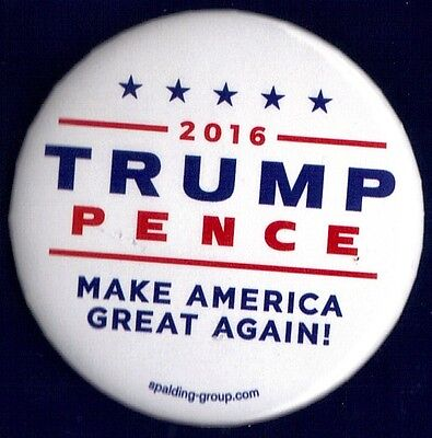 2016 Donald Trump   Mike Pence 2 1 4    Spalding Group Campaign Button Pin 39W