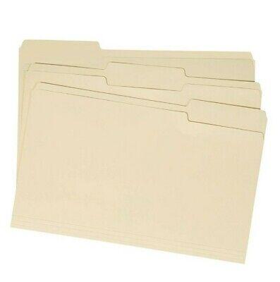 Basics File Folders - 13 Tab Manila Legal Size 100 Per Box