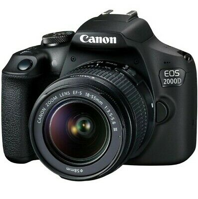 Canon EOS 2000D Digital SLR Camera - Black With Bag, 16GB Memory...