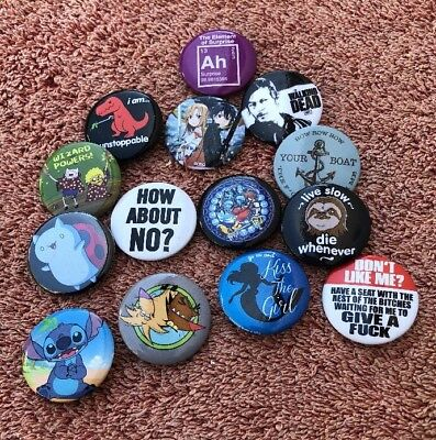 Vintage Pins (Lot Of 14) Walking Dead, Stitch, Anime, More](Animated Walking Dead)