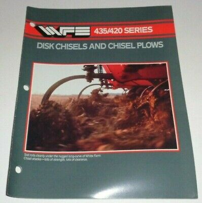 White Farm Equipment Wfe 435 420 Series Disk Chisel Chisel Plow Sales Brochure
