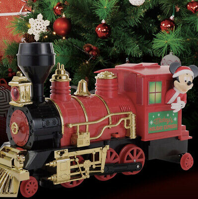Disney Christmas Mickey Mouse Conductor Train Collector Car Series Bump And Go