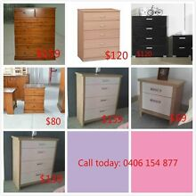 Brand new tallboys and bedsides for sale from $69 Westmead Parramatta Area Preview