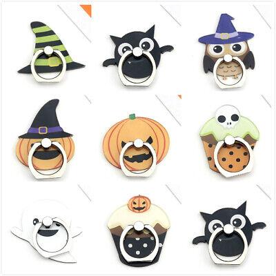 Halloween Pumpkin Cartoons (Halloween Pumpkin Ghost Skull Owl Finger Ring Stand Holder For Cell)