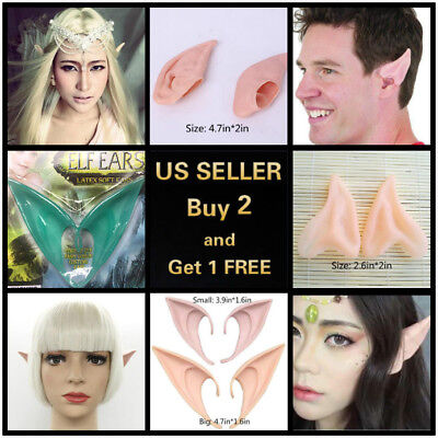 6 Styles 2Pcs Elf Ears Halloween Cosplay Latex Prosthetic Hobbit Vulcan Alian - Latex Prosthetics Halloween